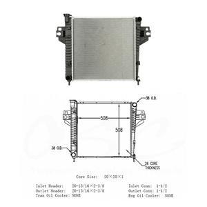 2002-2005 Liberty 2.4L NEW OSC 2482 Radiator
