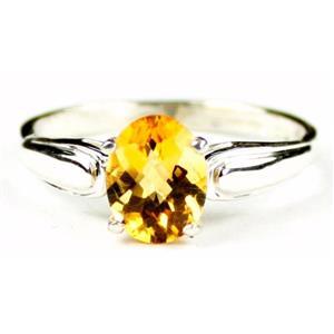 SR058, Citrine, 925 Sterling Silver Ring