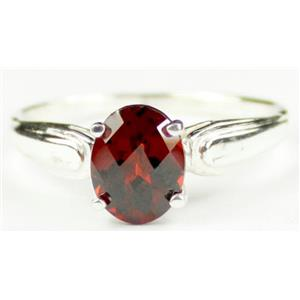 SR058, Mozambique Garnet, 925 Sterling Silver Ring