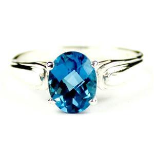 SR058, London Blue Topaz, 925 Sterling Silver Ring
