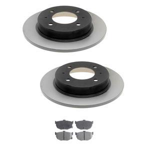 96-06 Elantra 97-01 Tiburon REAR (2) 31242 Disc Brake Rotor & Brake Pads MD323