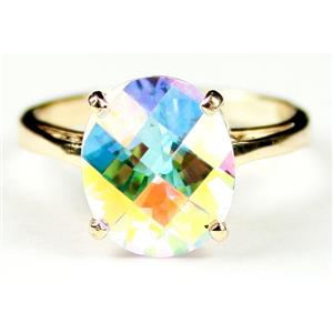 R055, Mercury Mist Topaz, Gold Ring