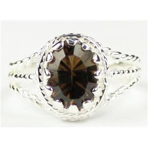 Smoky Quartz, 925 Sterling Silver Ring, SR070