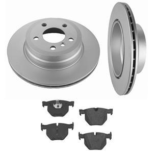 Fits Rear X5 4.4L 4.8L (2) Rear 320MM 12 5/8 Disc Brake Rotors & Ceramic Pads