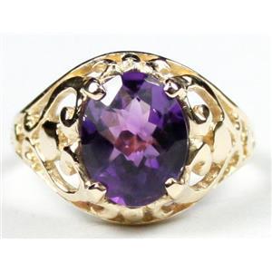 R004, Amethyst, Gold Ring