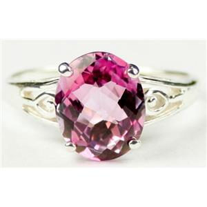 SR139, Pure Pink Topaz, 925 Sterling Silver Ring