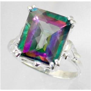 SR188, Mystic Fire Topaz, 925 Sterling Silver Ring
