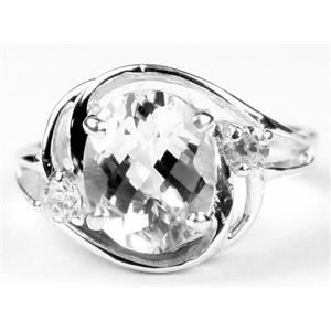 SR021, Silver Topaz, 925 Sterling Silver Ring