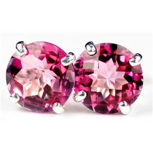 SE112, Pure Pink Topaz, 925 Sterling Silver Earrings