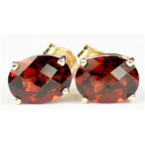 E002, Mozambique Garnet, 14k Gold Earrings