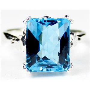 SR188, Swiss Blue Topaz, 925 Sterling Silver Ring