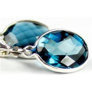 SE101, London Blue Topaz, 925 Sterling Silver Earrings