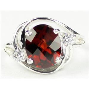SR021, Mozambique Garnet, 925 Sterling Silver Ring