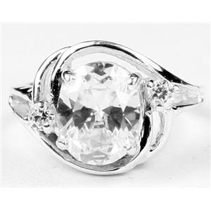SR021, Cubic Zirconia, 925 Sterling Silver Ring