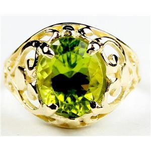 R004, Peridot, Gold Ring