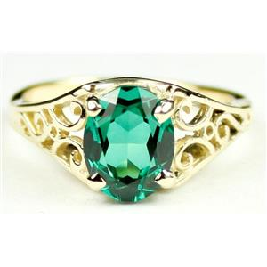 R005, Russian Nanocrystal Emerald, Gold Ring