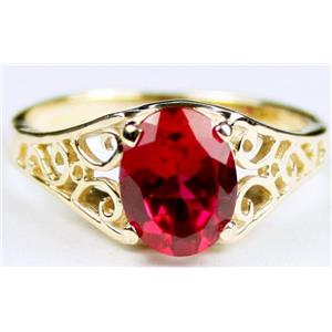 R005, Created Ruby, Gold Ring