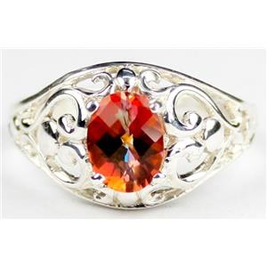 Twilight Fire Topaz, 925 Sterling Silver Ring, SR111