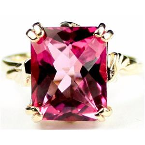 R188, Pure Pink Topaz, Gold Ring