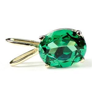 P002, Russian Nanocrystal Emerald, 14k Gold Pendant
