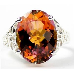 SR049, Twilight Fire Topaz, 925 Sterling Silver Ring