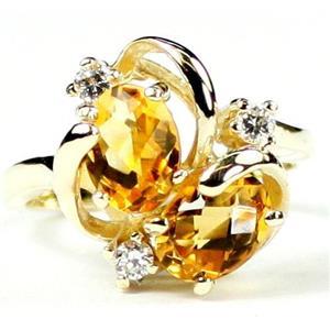 R016, Citrine, Gold Ring