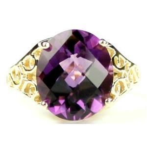 R057, Amethyst, Gold Ring