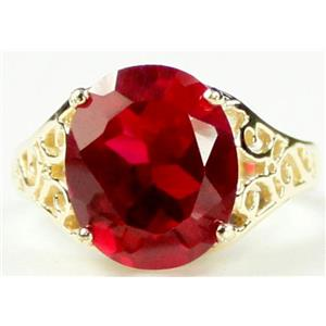 R057, Created Ruby, Gold Ring
