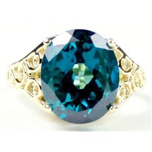 R057, Paraiba Topaz, Gold Ring