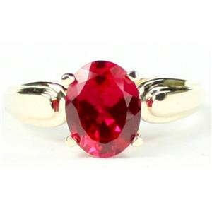 R058, Created Ruby, Gold Ring