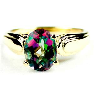 R058, Mystic Fire Topaz, Gold Ring