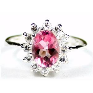 SR235, Pure Pink Topaz, 925 Sterling Silver Ring