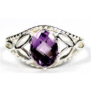 SR137, Amethyst, 925 Sterling Silver Ring