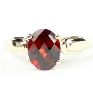 R058, Mozambique Garnet, Gold Ring