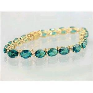 B002, Paraiba Topaz Gold Bracelet