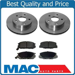 1991-1994 Previa Van WITH REAR DRUM BRAKES Brake Disc Rotors FWD 31048 MD527