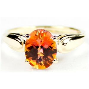R058, Twilight Fire Topaz, Gold Ring