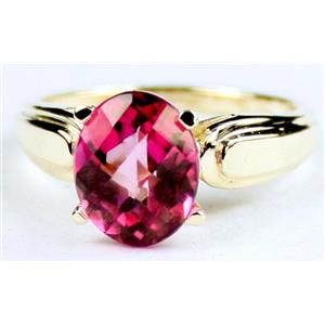 R058, Pure Pink Topaz, Gold Ring