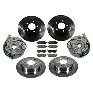 04-06 Pacifica All 4 Rotors With Ceramic Pads Plus 2 Front Hub Wheel Bearings