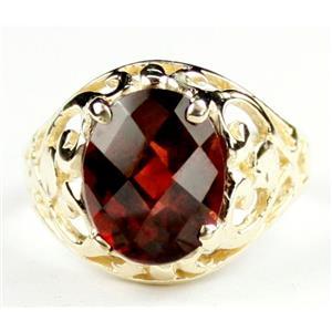 R004, Mozambique Garnet, Gold Ring