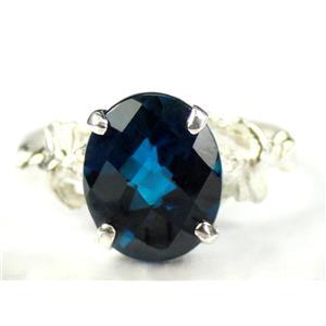 London Blue Topaz, 925 Sterling Silver Ring, SR154