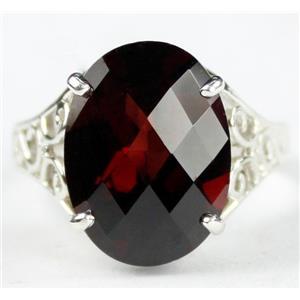SR049, Mozambique Garnet, 925 Sterling Silver Ring