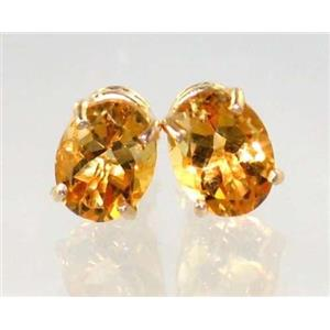 E002, Citrine, 14k Gold Earrings