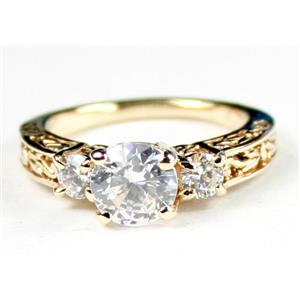 R254, Cubic Zirconia w/ Accents, Gold Ring