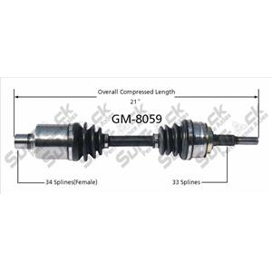 SurTrack GM-8059 CV Axle Shaft - New DRIVERS SIDE CK NOTES