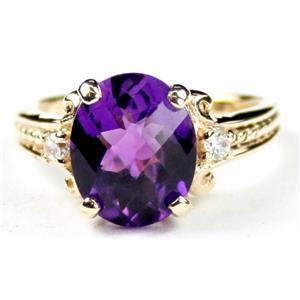 R136, Amethyst, Gold Ring