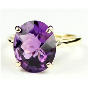 R055, Amethyst, Gold Ring
