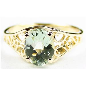 R005, Green Amethyst (Prasiolite), Gold Ring
