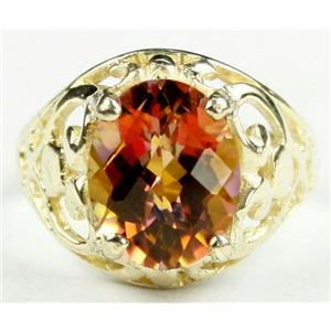 R004, Twilight Fire Topaz, Gold Ring