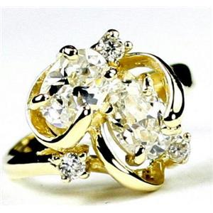 R016, Cubic Zirconia, Gold Ring